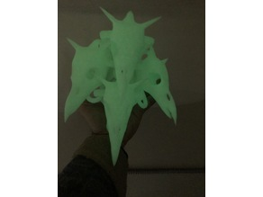 Horny Skull Armour, prints assembled