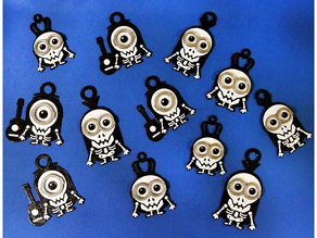 Minions Keychain / Magnets - Skull / Skeleton Version