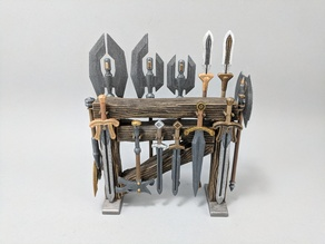 Action Figure Weapon Rack