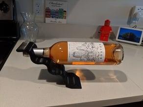Balancing wine bottle holder by Kenneth79 2 part