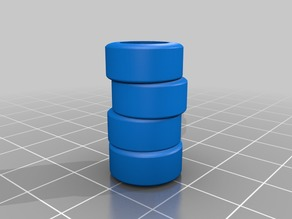 1/43 stack of 4 formula 1 tires