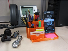 All-In-One Desk Organizer: pencil holder with wireless charging phone stand V1