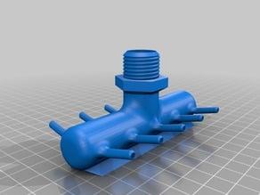 aquaponics - 10 hose splitter