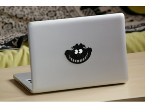 3D laptop sticker (Cheshire cat)