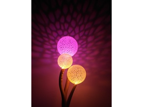 Voronoi blowball Flower - Lighted Decoration