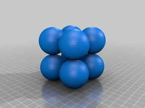 Simple Cubic Crystal Structure