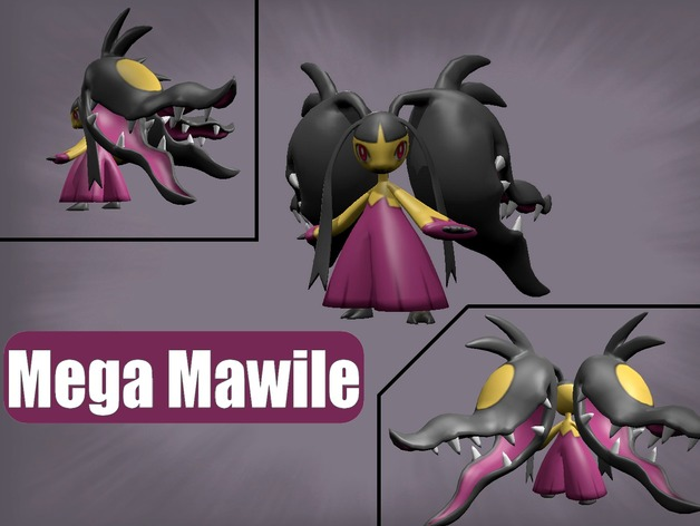 Mega Mawile By Bisic Thingiverse