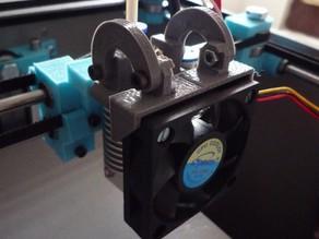Support de ventilo 50mm et fanduct pour smartcore v1.