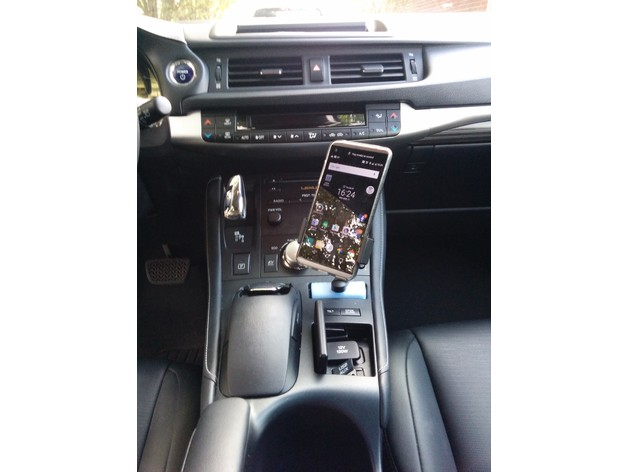 Lexus Ct200h Phone Holder Adapter By Rushing Thingiverse