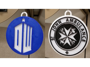 Doctor Who Ornament - St John Ambulance and DW Logo