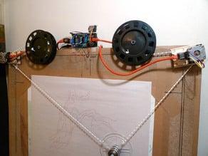 Polargraph takeup spool bracket