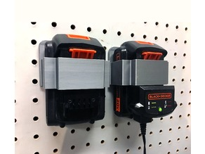 Pegboard Holder for Black & Decker 20V Battery