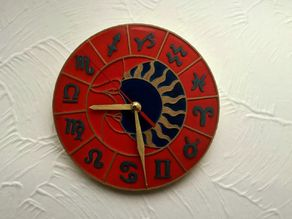 Wall Clock Zodiac Circle