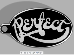 Perfect Logo Keychain