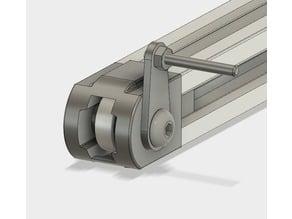 Printable idler, for 2020 v-rail gantry end