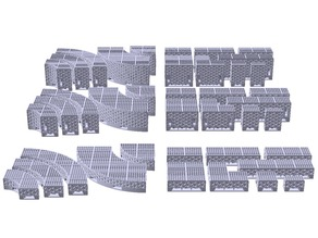 OpenLOCK Intermediate Step Riser Floor Tiles set - Sci-Fi / Industrial Square Grill (1 inch grid)