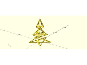 Pentagram christmas tree
