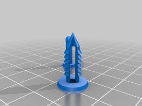 My Customized Parametric push pin-5mm-cones