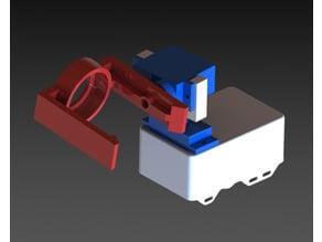 2-axis servo flashlight mount