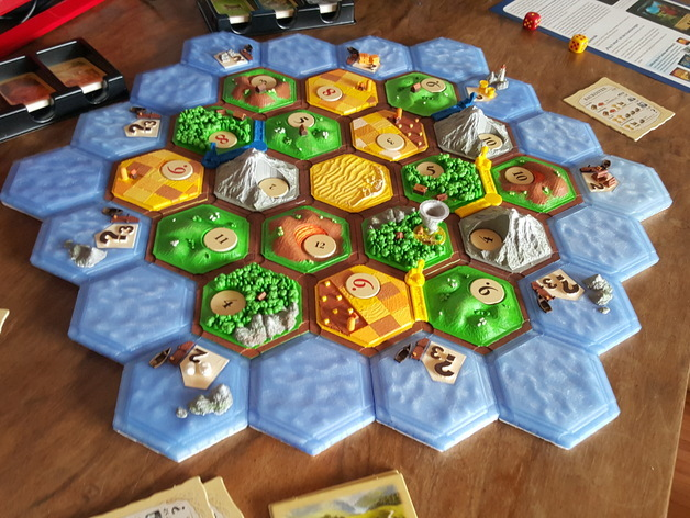 photograph about Settlers of Catan Printable known as settlers catan layout (magnetic) via Dakanzla - Thingiverse