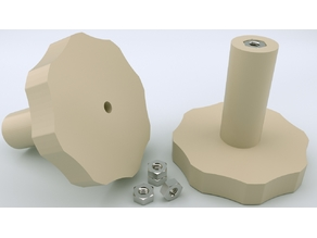 Da vinci 1.0 pro bed level Thumbwheel with TWO nuts