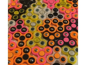 Spinner inserts for marbles or loose bearings