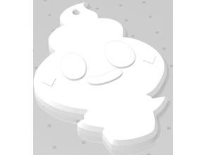 Vanillite Pokemon Keychain