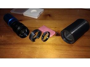 "25mm f1.4 c-Mount lens 1.25"" Filter holder and light shroud for wide field EAA"