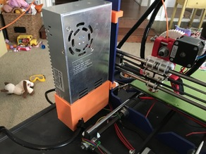 Prusa i3 Power Supply Cover with Power Relay