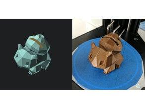 Bulbasaur Tool Holder for the Monoprice Mini Delta