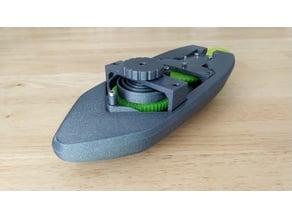 wind-up Bathtub Boat V4 - Badewannen Boot zum Aufziehen - Funktionsfähig