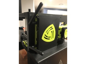 Wireless Access Point Mount for Lulzbot Mini