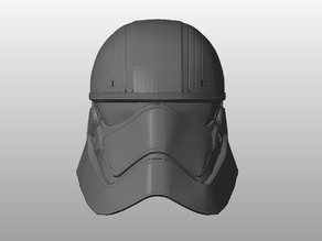 Captain Phasma Helmet: Smoother and Hollow