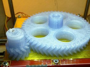 Parametric Herringbone Gear Set for Stepper Extruders