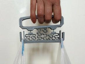 Bag holder with damper