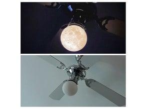 Moon flange for ceiling fan.