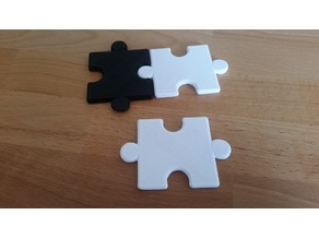 Chess board puzzle pieces