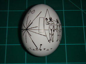 Pioneer Spacecraft Plaque