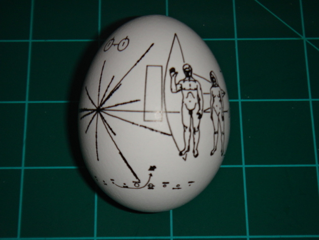 Pioneer Spacecraft Plaque by peterinaz - Thingiverse