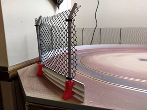 Slot Car Track Wall Supports and Fence Posts