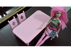 Table and chair for dolls