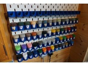 Tamiya Paint Shelves for IKEA Skadis