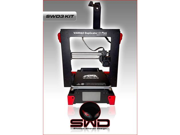 swd3 kit zaxis rear mount for wanhao duplicator i3 plus monoprice maker select plus by thingiverse