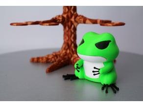Travel Frog with Hat --V2  / 旅行青蛙 及 旅行青蛙帽子 --V2