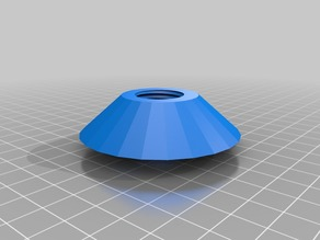 Threaded cone nut for spool holder