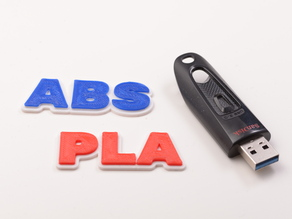 Customized HD Font Keychain (ABS + PLA)