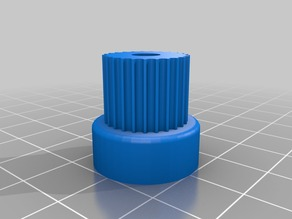 My Customized Parametric Pulley - GT2 25 Tooth for Paste Extruder