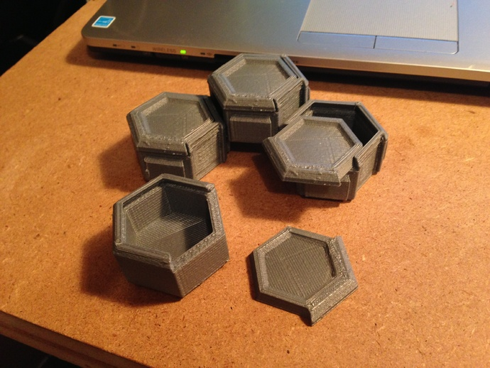 Sliding Top Hexagon Boxes By Brandonw6 Thingiverse