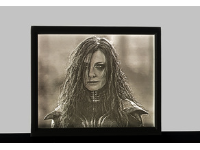 Hela (Thor Ragnarok) Lithophane
