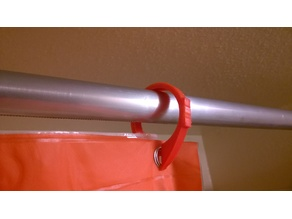 Shower Curtain Ring with flat side